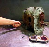 What type of oil is recommended for a high vacuum pump?
